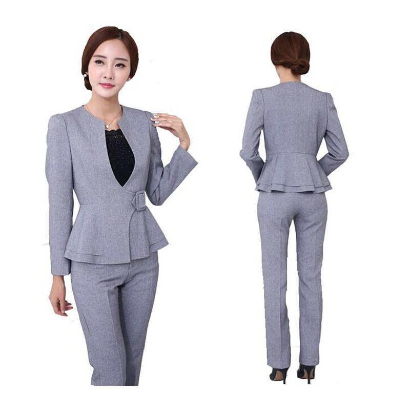 Womens business suits 2018 office uniform designs long for Bureau uniform