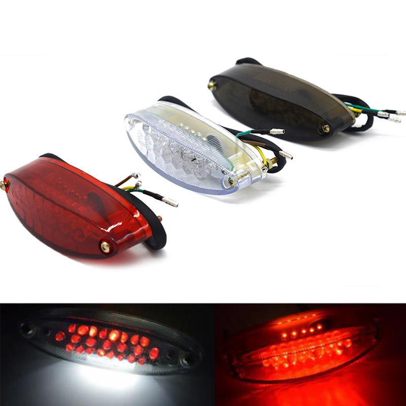 Motorcycle Bike Rear Tail Stop Red Light Lamp  Braking Light For Dirt Bike Taillight Rear Lamp