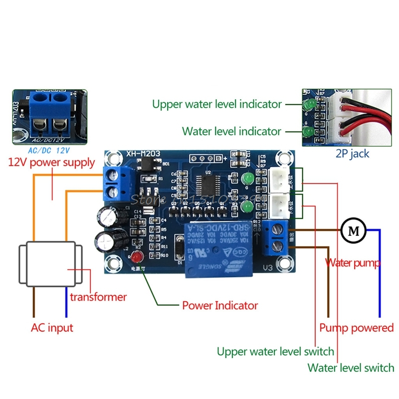 XH-M203 Water Level Controller Automatic Water Level Switch Pump Controller a
