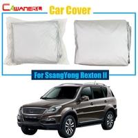 Cawanerl Auto Cover SUV Anti UV Regen Sneeuw Zon Slip Protector Cover Voor SsangYong Rexton II