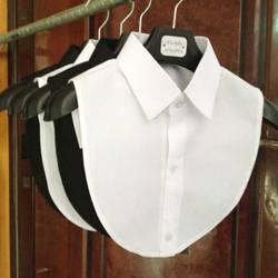 1 шт. для женщин Однотонная рубашка хлопок кружево воротники-обманки белый и черный блузка Винтаж Съемная одежда интимные аксессуары