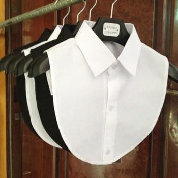 1PC Women Solid Shirt False Collar