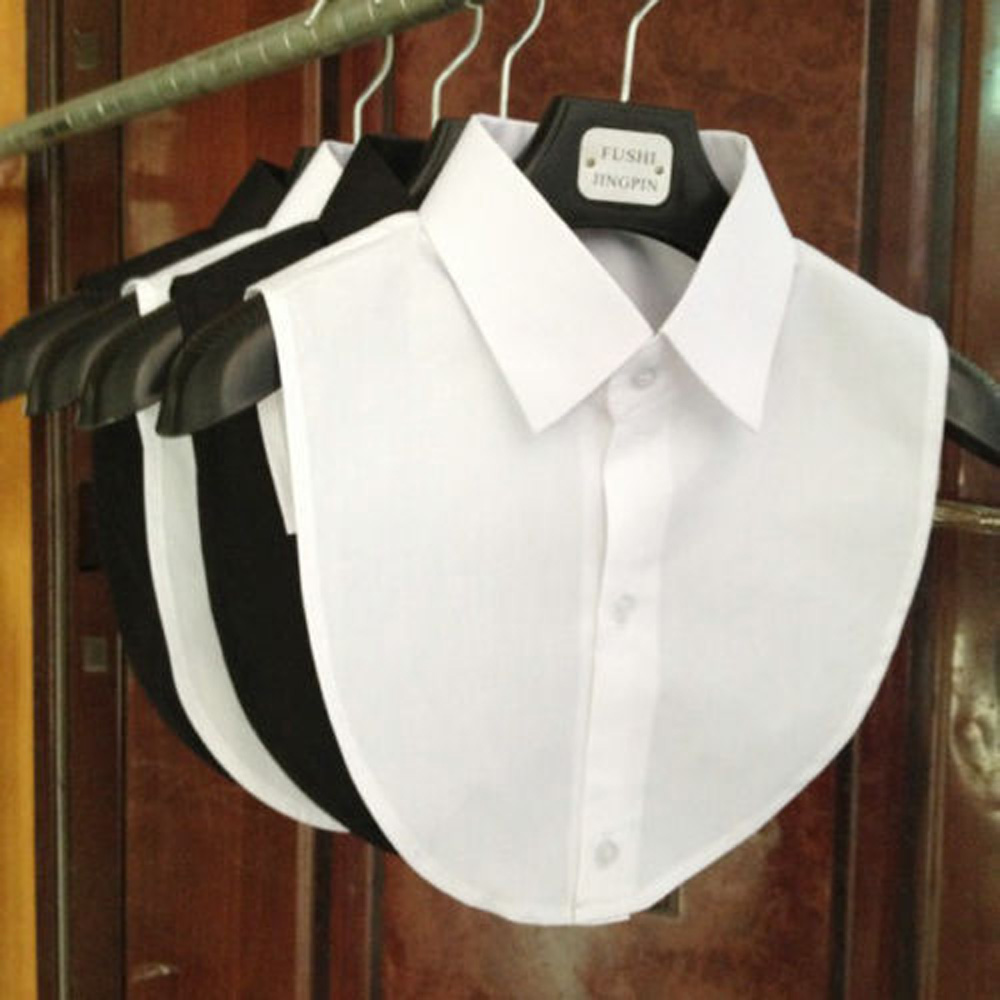 2021 Women Detachable Lapel Fake Collar Ruffles Lace Shirt Fake False Collar Blouse Removable False Half Shirt Blouse DROPSHIP