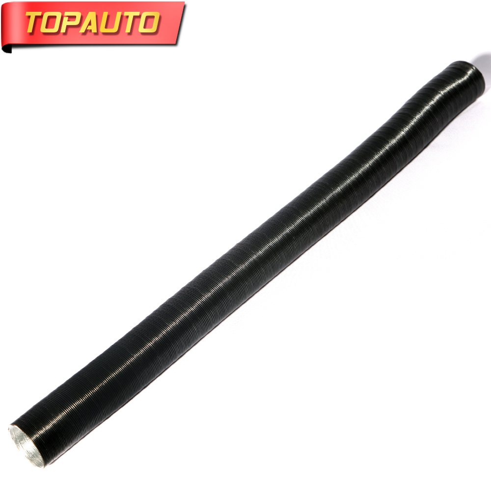 TopAuto 42mm Air Intake Exhaust Pipe Aluminum Outlet Pipe Hose Stretch Corrugated For Air Parking Diesel Heater Part Accessories pipe