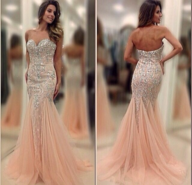 Online Shop Sexy Crystal Beading Sweetheart Mermaid Prom Dresses ...