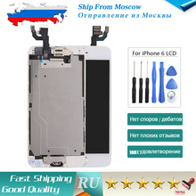 SHIP FROM RUSSIA For iPhone 6 Screen LCD Display Touch Replacement Home Button+Front Camera Speaker Assembly White