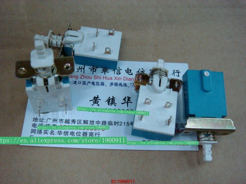 5 Stks/partij Versterker Chassis Switch Kdc-a06f 2a/16a250v4 Voeten Met Een Vaste Schroef Watt