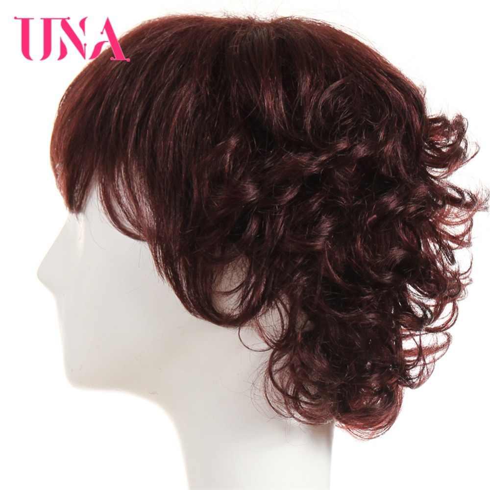 UNA не Реми малазийские человеческие волосы Funmi кудрявые парики для женщин 150% плотность #1 # 1B #2 #4 #27 #30 #33 # 99J #350 #2/33