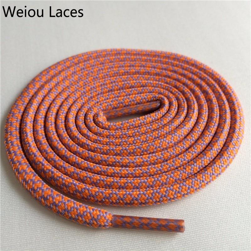 Weiou новые яркие цвета для пеших прогулок, двухцветные шнурки, сменные шнурки для обуви, круглые шнурки для баскетбола 750 - Цвет: 37Orange Red Light p