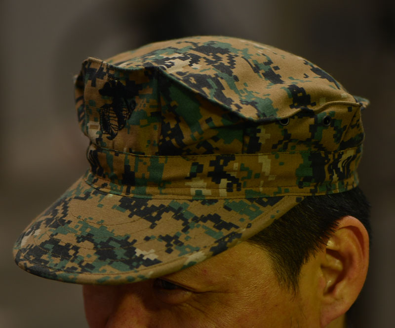 Camouflage Military Issue Hat Cap USMC Utility Woodland Camo Ripstop US Army New