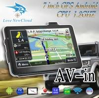 Oriana 7 polegada de Navegação GPS Do Carro Android Bluetooth WI FI Navitel Rússia/Europa mapa Caminhão Veículo gps Navigator sat nav Built 8GB|vehicle gps navigator|sat nav|car gps navigation -