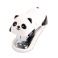 Staionery binder связывание скрепки panda степлер школьные офис принадлежности оптовая мультфильм