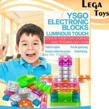 19PCS Touch control led Light electronic blocks DIY Kits Integrated circuit building blocks snap circuit model kits Science toys