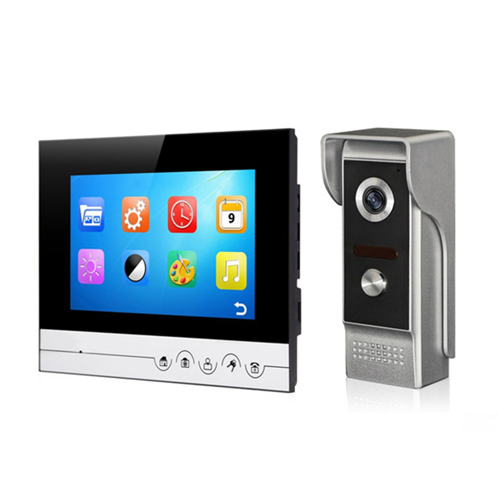 Danmini V70Rm/M4 Video Doorbell 7inch Colour HD TFT-LCD Video Doorbell IR Night Vision Camera Home Apartment Doorbell 7 inch video doorbell tft lcd hd screen wired video doorphone for villa one monitor with one metal outdoor unit night vision