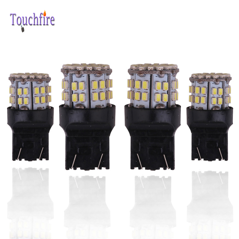 10pcs/lot P21W/1156/BA15S/S25 1157 BAY15D 7440 7443 Bulb 1206smd 50led lights 12V Width Interior Signal brake Car White Red