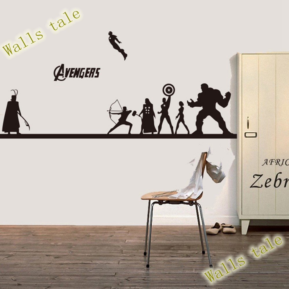 Buy creative diy the avengers wall for Stickers pared baratos