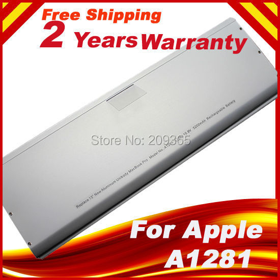 Wholesale Laptop battery For Apple A1281 A1286 (2008 Version) For MacBook Pro 15 MB470 Mb471 MB772 MB772*/A Aluminum Wholesale Laptop battery For Apple A1281 A1286 (2008 Version) For MacBook Pro 15 MB470 Mb471 MB772 MB772*/A Aluminum