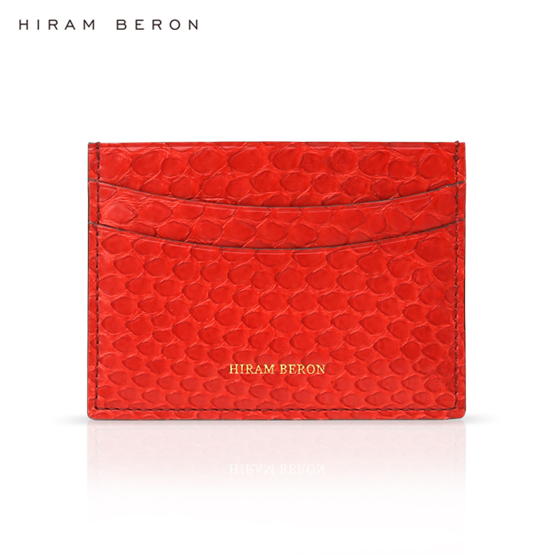 Hiram Beron CUSTOM NAME FREE wallets for womens credit card wallet fashion style Python Skin card