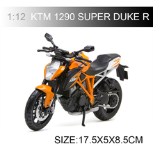 Maisto KTM 1290 SUPER DUKE R motorcycle model 1:12 scale Motorcycle Diecast Metal Bike Miniature Race Toy For Gift Collection saintgi lp700 gallardo super toy reventon automobili s p a miura 1 24 diecast metal miniature model gift collection car assembly