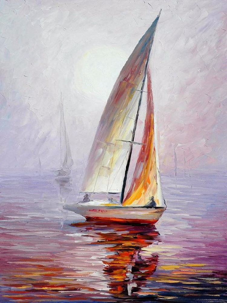 High quality oil painting handmade knife painting seascape - Cuadros espectaculares modernos ...