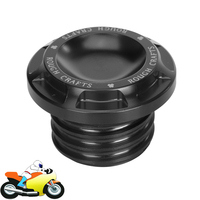 Black Motorcycle Fuel Gas Tank Cover Oil Cap For Harley Sportster XL 1200 883 Dyna Touring