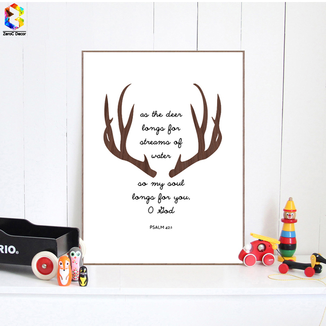 Minimalist Antlers Quote Art Print Poster, Wall Art Picture For Living Room  Decoration, Nordic