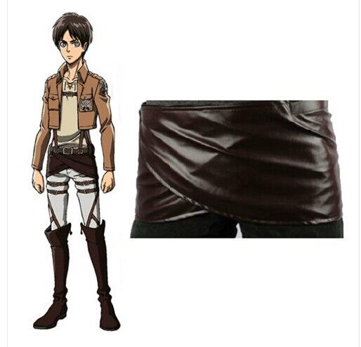Аниме Shingeki no Kyojin Атака Титанов, Deluxe Edition, костюмы для косплея, юбка с фартуком из искусственной кожи