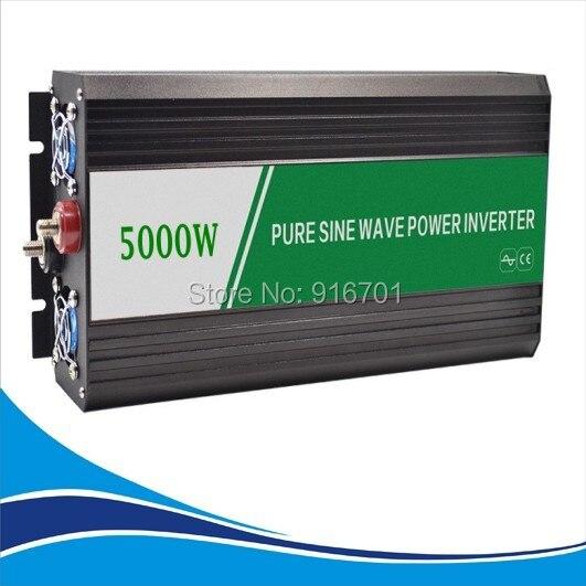 цена на 5000W Pure sinus omvormer Inverter Manufacturer 12/24v DC to 220v AC Off-Gird Pure Sine Wave Inverter 5000W peak 10000W