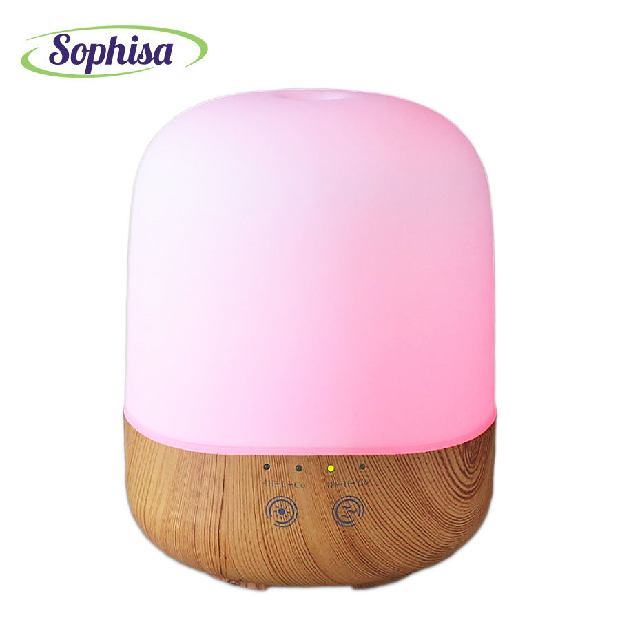 Sophisa 300ml Air Humidifier Essential Oil Diffuser Aroma Wood Grain ...