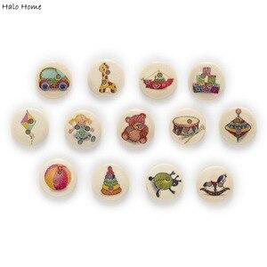 Jouet en bois 2 trous de 15mm   Jouet Scrapbooking, boutons ronds en bois, couture de maison, décoration de bricolage, vêtements de bricolage