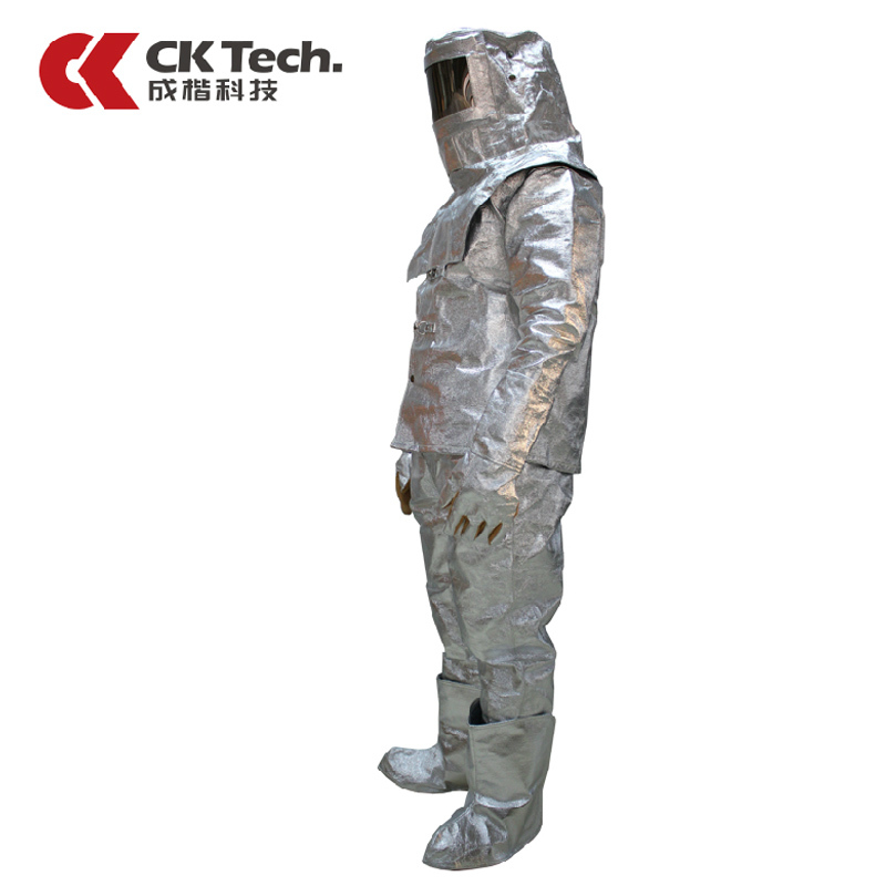 CK Tech Brand Men Work Wear Fire Heat Insulation Clothing Suit Escape1000 Degrees, Thermal Radiation Protection SuitsF020 ...