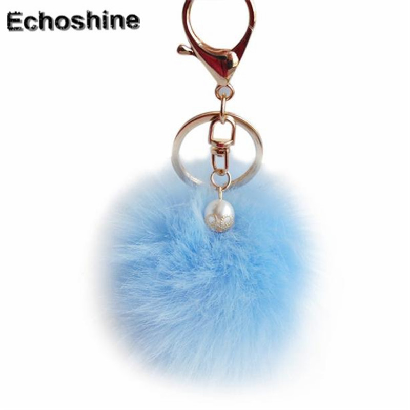 2016 new popular Women Bag Accessories Rabbit Fur Ball Bag Plush handbag  Pendant gift wholesale B10