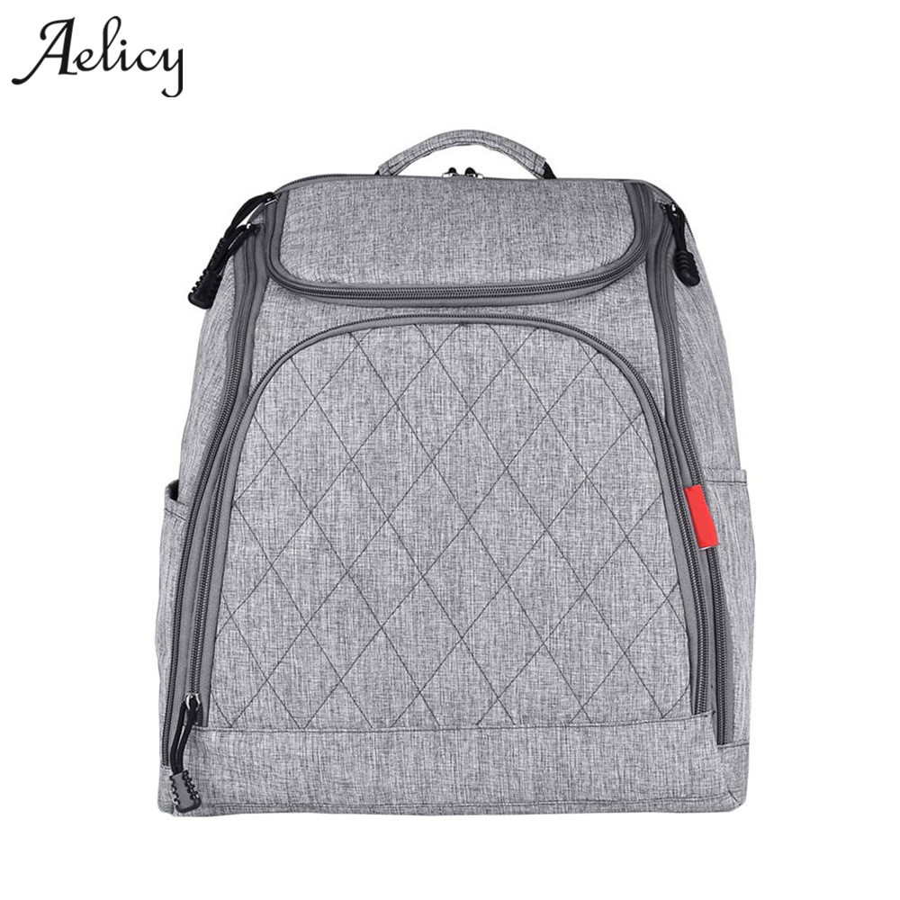 Aelicy Large Capacity Diaper Bag Mommy Maternity Nappy Bags Canvas Desiger Travel Backpack Bag Baby Care For Dad and Mom 1030 mommy bag for baby care cartoon pattern maternity bag for cart large capacity travel backpack mom nappy diaper bag for stroller