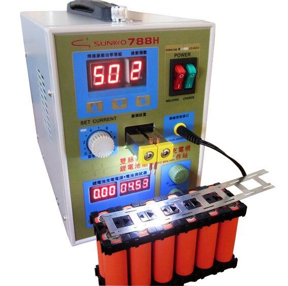 SUNKKO 788 H Double-fulse Micro-ordinateur chargeur de soudage par points au Lithium batterie assemblée Stations d'essai + 3mm 1 KG feuille de Nickel