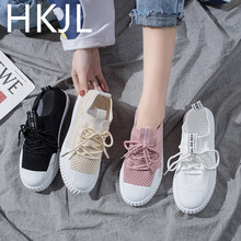 HKJL Socks shoes female 2019 summer new one-legged womens flying woven breathable wild mesh casual Z003