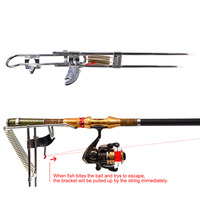 Automatic Double Spring Angle Fish Pole Tackle Bracket Fishing Bracket Rod Holder Anti Rust Steel Tools