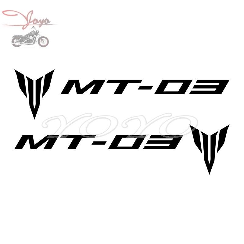 motocicleta decalque personalizado capacete adesivo carenagem decalques fender adesivos grafico para yamaha mt03 mt 03