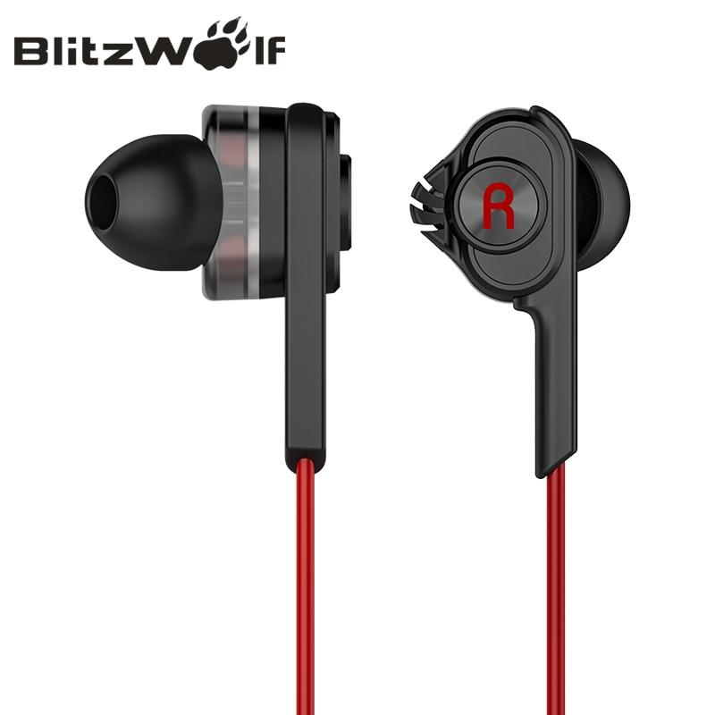BlitzWolf 3.5mm Com Fio Fone de Ouvido Com Microfone Fones de Ouvido Fones De Ouvido Com Microfone Universal Para Samsung Para o iphone 6 s Smartphones
