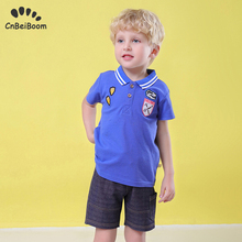 Cotton Baby Sets Casual Sports Suits Boy T-shirt + Shorts Boy Clothes Sets Toddler Clothing sets Kids 12 3 4 5 tracksuit school цена 2017