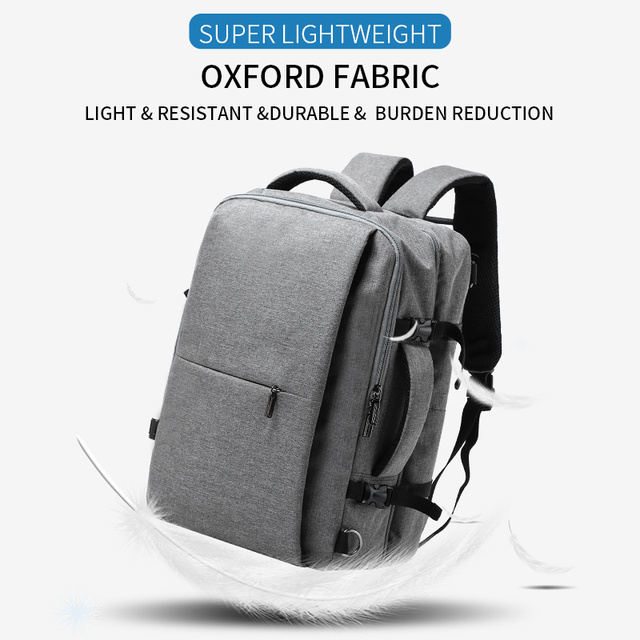 MOYYI Business Travel Double Compartment Backpacks Multi-Layer 3