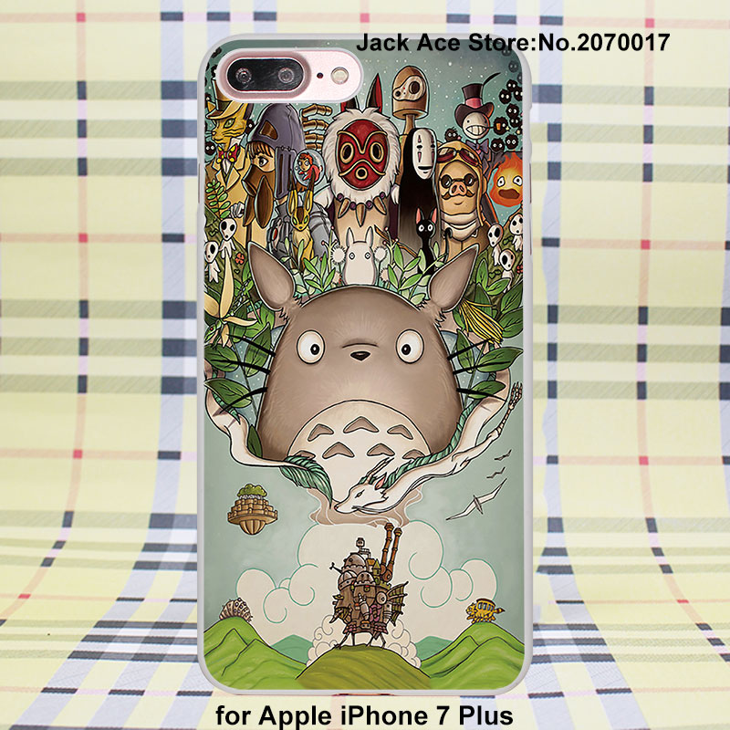 A Tribute to Hayao Miyazaki case cover for Apple iPhone SE 4 4s 5 5s 5c 6/6s 6Plus/6sPlus plastic white case