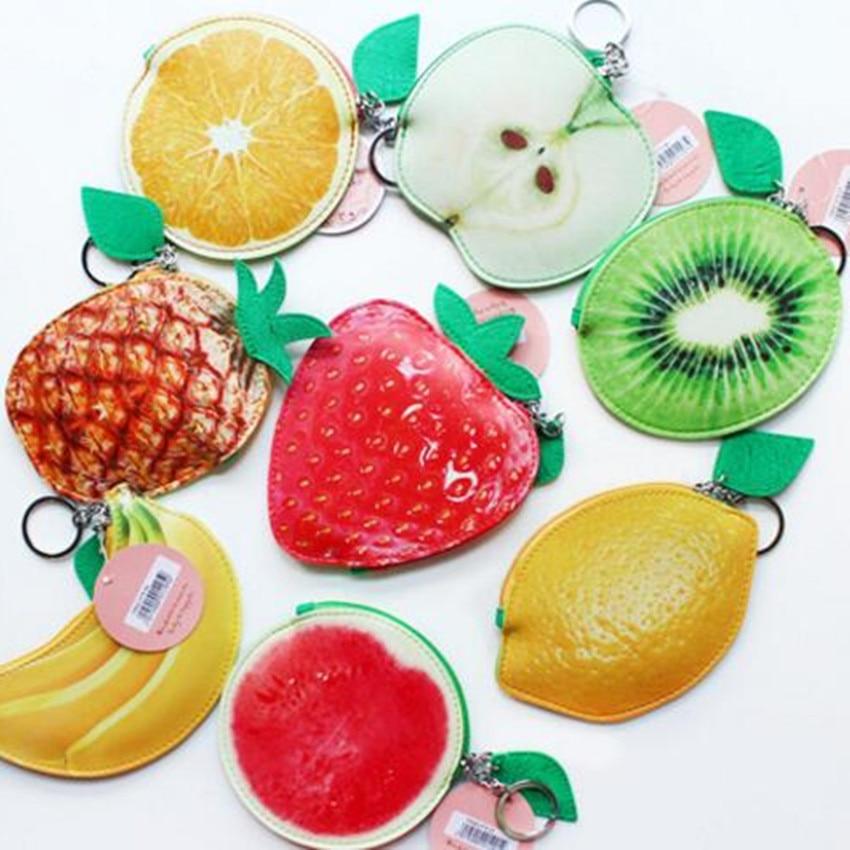 M319  Image Design Women Purses Cartoon Fruit Family Apples Watermelons Strawberries Bananas Coin Bag key Ring Mini Cloth Bag дозатор tork image design 460010