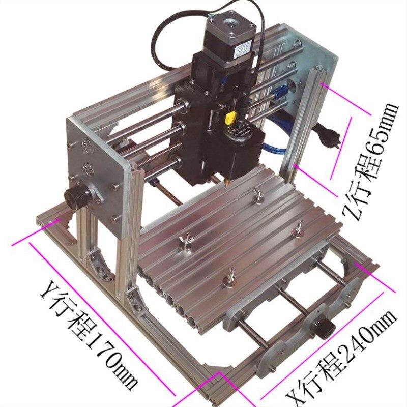 CNC bricolage CNC machine de gravure 2417 + 2500 mw 3 axes mini Pcb Pvc fraiseuse métal bois sculpture machine routeur GRBL contrôle