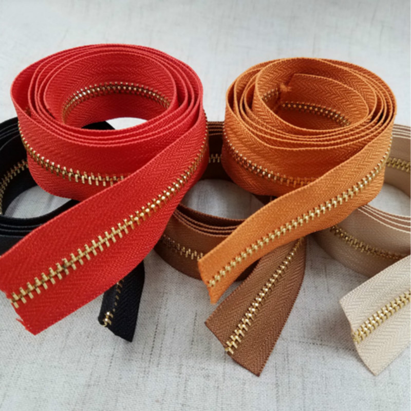 10M LOT Continuous METAL Zipper Chain Fastener ROLL Tape SLIDER Leather Bag Suitcase WALLET REPAIR diy Sewing Accessories in Zippers from Home Garden
