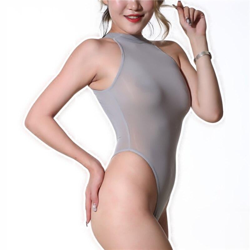 Sexy Sheer Thong Bodysuit Women Body Top Sleeveless Jumpsuit Romper Hot Bodysuit Leotard Women's Clothing