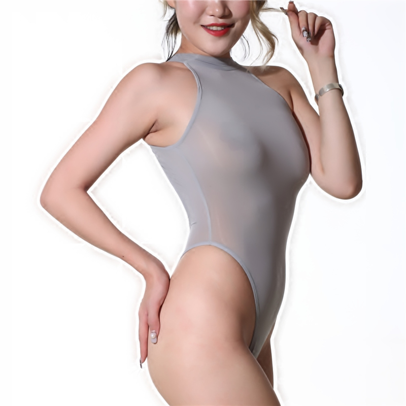 Sexy Sheer Bodysuit Women   Jumpsuit   Romper High Cut Thong Bodysuit See Through Leotard Backless Body