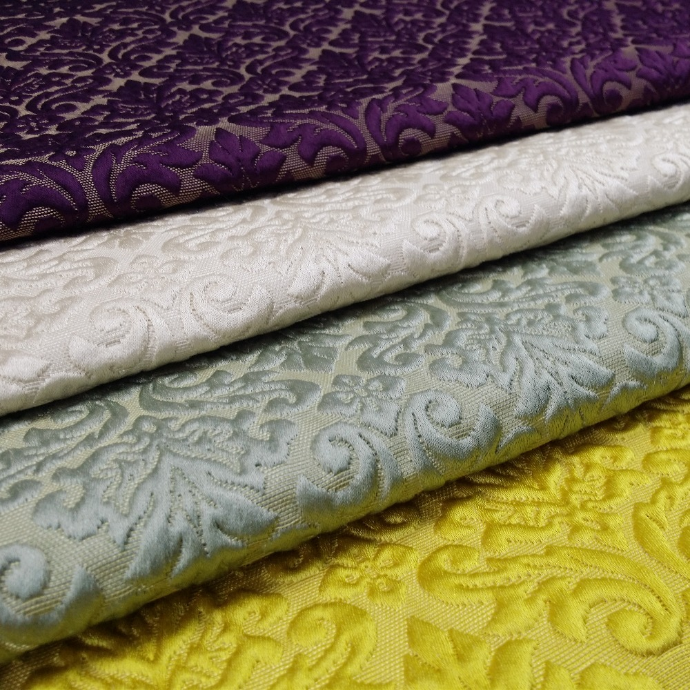 Clássico pequeno damasco jacquard tecido estofamento sofá poltrona mobiliário interior designer tecidos 140cm largura vender por metro