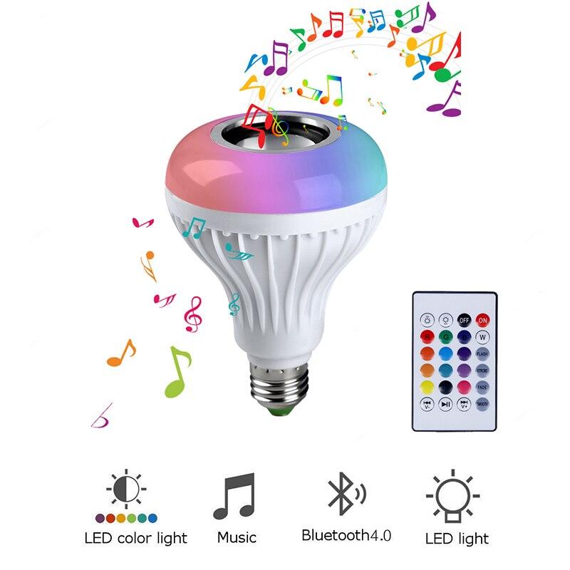 13 colori E27 Altoparlante Senza Fili del Bluetooth 12 w Lampadina di RGB HA CONDOTTO LA Lampada 110 v 220 v Intelligente Ha Condotto La Luce di Musica lettore Audio con Telecomando