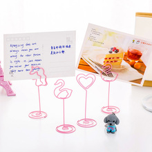 Metal Clips Pink Unicorn Flamingos Paper School Office Paperclips for Papers Pictures Message Memo Kawaii Stationery