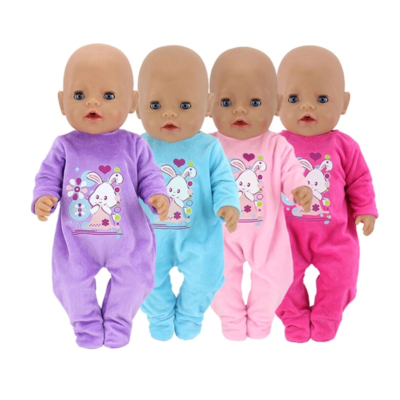 New Doll Clothes Fit 43cm baby Zapf Doll 4 Colors Jumpsuit Plush Crawling Clothes Children 18 Inch American Girl Gifts american girl doll clothes superman and spider man cosplay costume doll clothes for 18 inch dolls baby doll accessories d 3